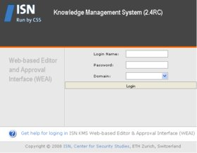 ISN Content/Knowledge Management System